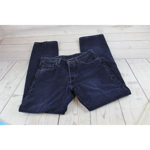 Levi's 501 29x30 Dark Jeans Denim Button Fly Mens